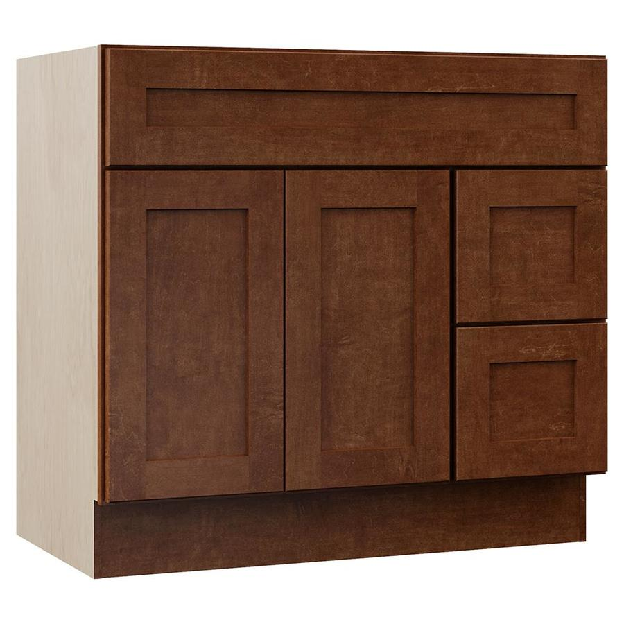 VILLA BATH by RSI Sanabelle Cognac Transitional Bathroom Vanity (Common: 36-in x 22-in; Actual: 36-in x 21.5-in)