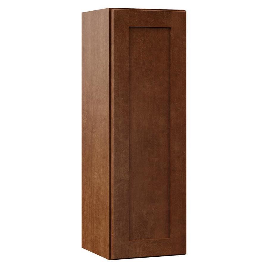 VILLA BATH by RSI Sanabelle 12-in W x 36-in H x 13-in D Cognac Bathroom Wall Cabinet