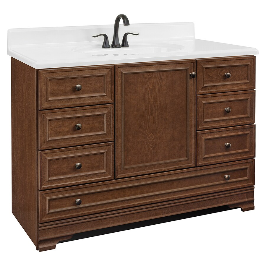 Project Source Bark Traditional Bathroom Vanity (Common: 48-in x 22-in; Actual: 48-in x 21-in)