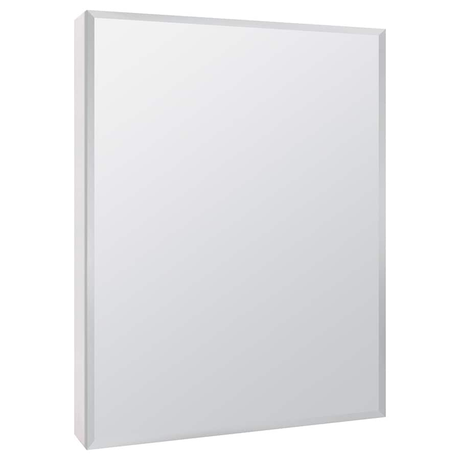 Style Selections 20-in x 26-in Rectangle Surface Mirrored Particleboard Medicine Cabinet