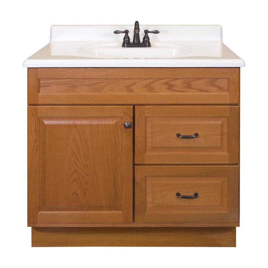 Project Source 36 In Golden Bathroom Vanity Cabinet In The Bathroom Vanities Without Tops Department At Lowes Com