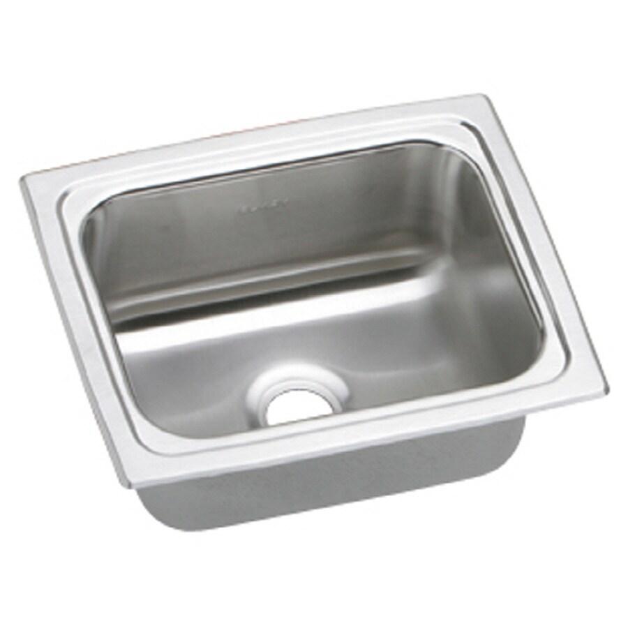 Elkay Gourmet Brilliant Satin Single-Basin Stainless Steel Residential Bar Sink