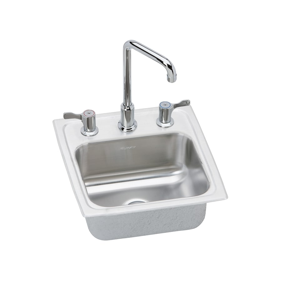 Elkay Gourmet Brilliant Satin Single-Basin 3-Hole Stainless Steel Residential Bar Sink