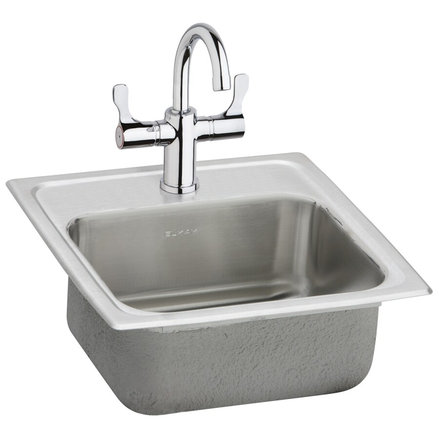 Elkay Gourmet Brilliant Satin Single-Basin 1-Hole Stainless Steel Residential Bar Sink