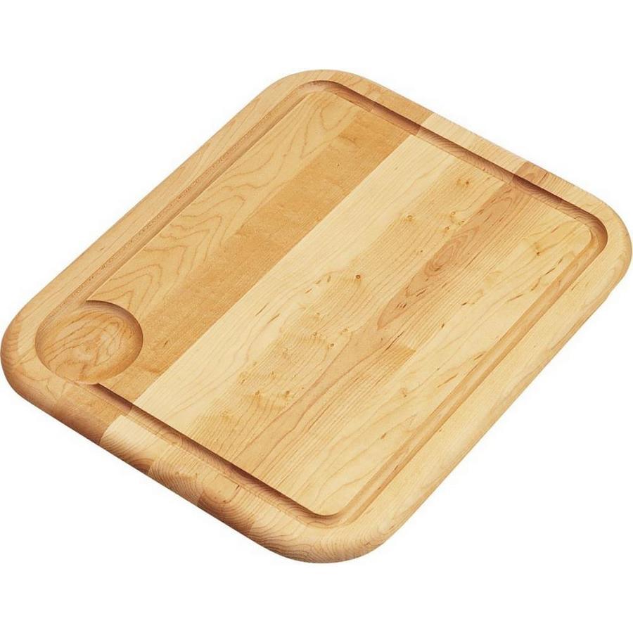 Elkay 1 13.5-in L x 16.75-in W Wood Cutting Board