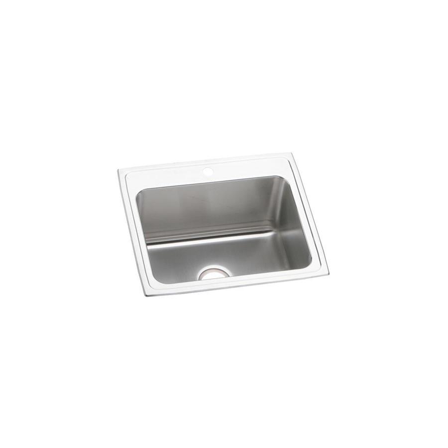 Elkay 22-in x 25-in Stainless Single-Basin Drop-In Kitchen Sink