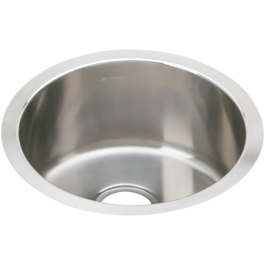 Elkay Mystic 16.38-in x 16.38-in Soft Highlighted Satin Single-Basin Stainless Steel Undermount Residential Kitchen Sink