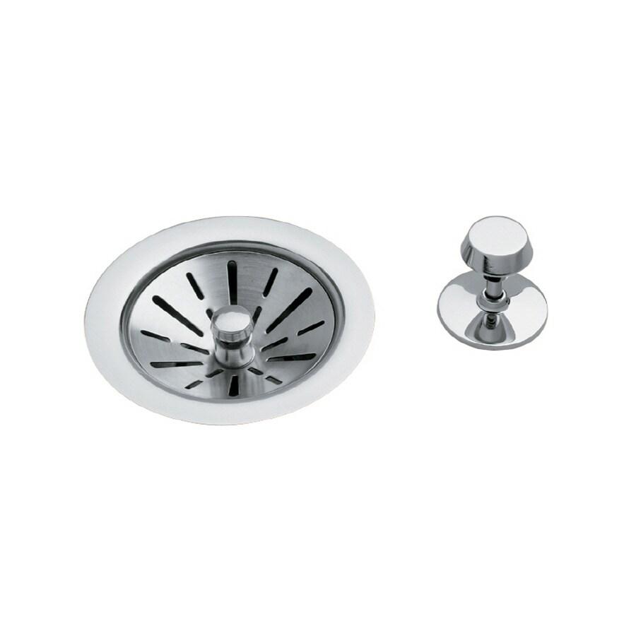 Elkay 4.5-in Chrome Brass Fixed Post Kitchen Sink Strainer