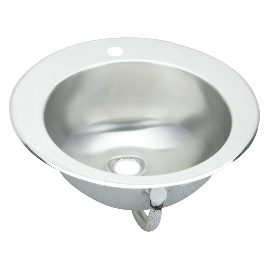 Stainless Steel Sink In Bathroom : ... Stainless Steel Drop-In Round Bathroom Sink with Overflow at Lowes.com