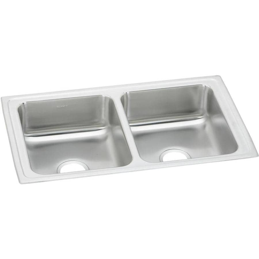 Kitchen Sink 33 X 19 Shop Elkay 19 In X 33 In Stainless Basin Kitchen Sink At Lowes Lyons