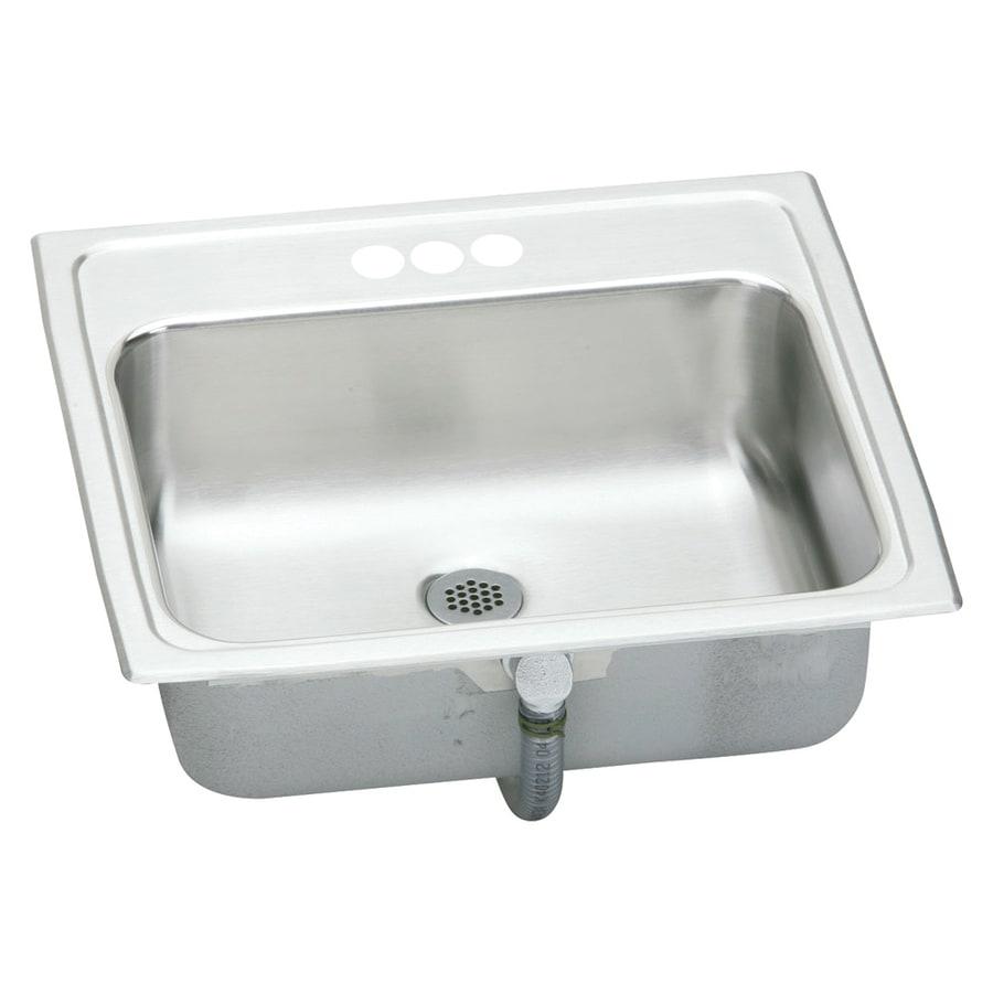 Elkay Asana Brilliant Satin Stainless Steel Drop-In Oval Bathroom Sink