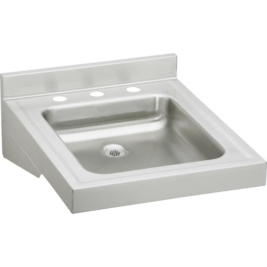 ... 23-in Buffed Satin Wall Mount Stainless Steel Utility Tub Utility Sink