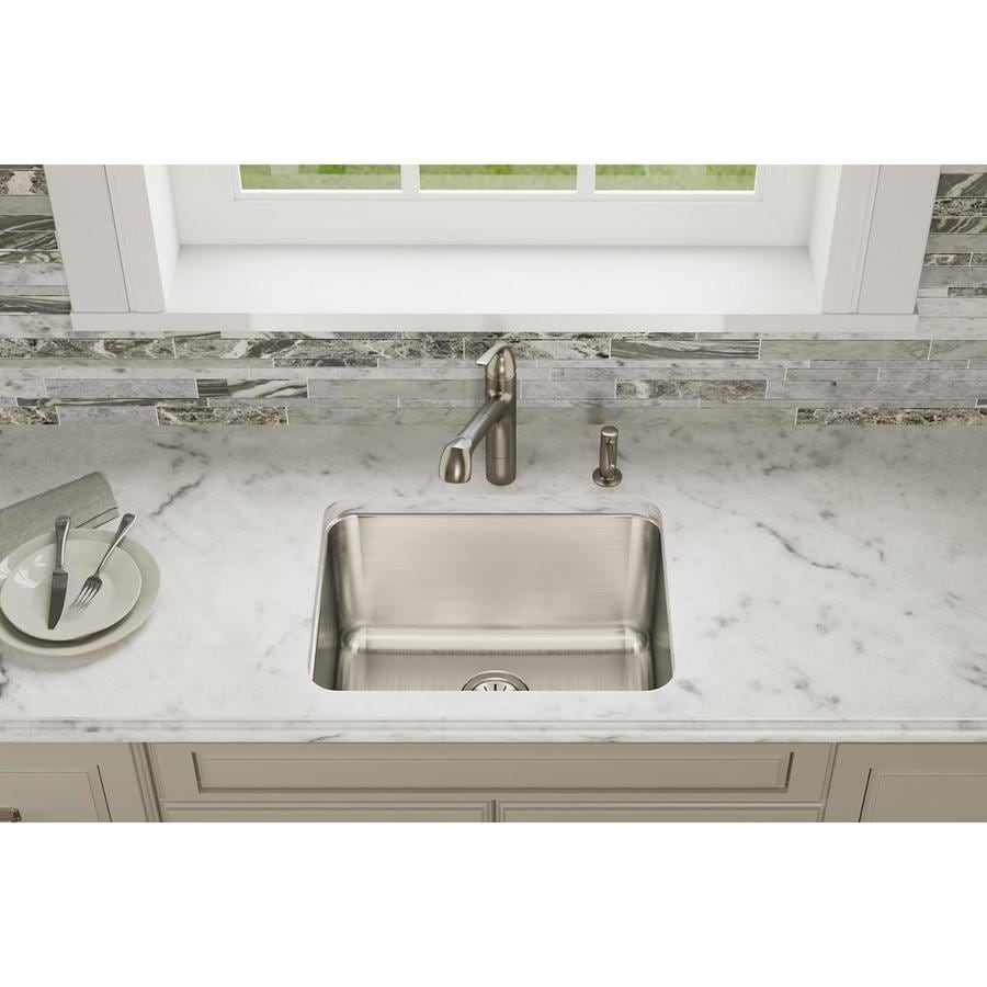 Elkay Gourmet 17.25-in x 22.5-in Lustrous Satin Single-Basin Stainless Steel Undermount Residential Kitchen Sink