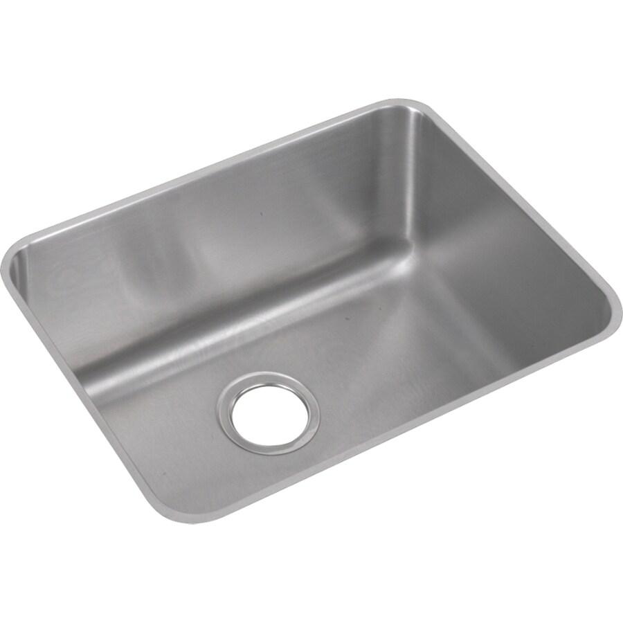 Elkay Gourmet 18.25-in x 23.5-in Lustertone Single-Basin Stainless Steel Undermount Residential Kitchen Sink