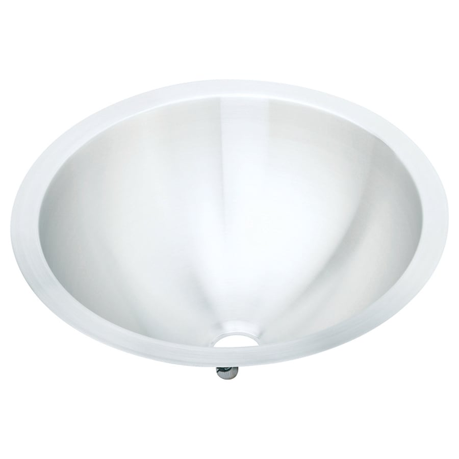 Elkay Asana Lustrous Highlighted Satin Stainless Steel Drop-In Round Bathroom Sink with Overflow