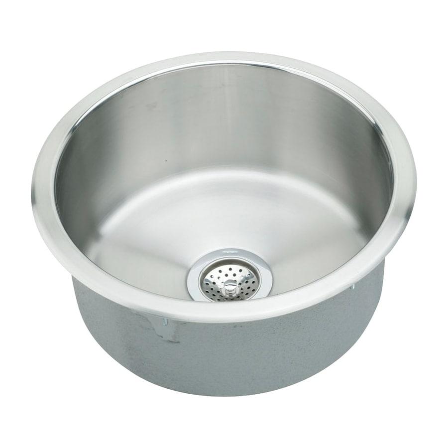 Elkay Mystic Lustrous Highlighted Single-Basin Satin Stainless Steel Residential Bar Sink