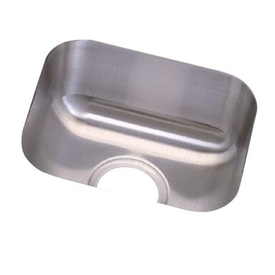 Elkay Dayton 12-in x 14-in Radiant Satin Single-Basin Stainless Steel Undermount Residential Kitchen Sink