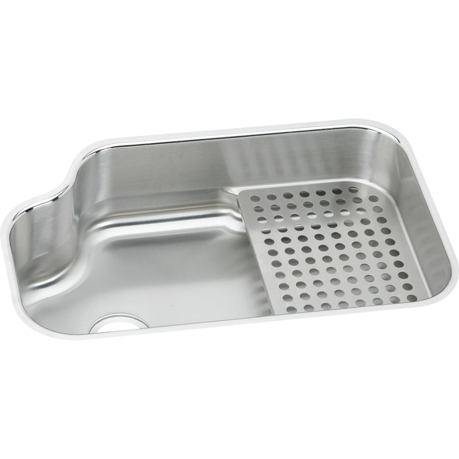 ... Stainless Steel Undermount Residential Kitchen Sink with Drainboard at