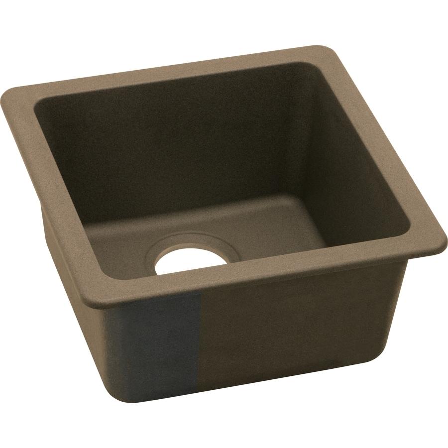 Elkay Gourmet Mocha Single-Basin Granite Residential Bar Sink