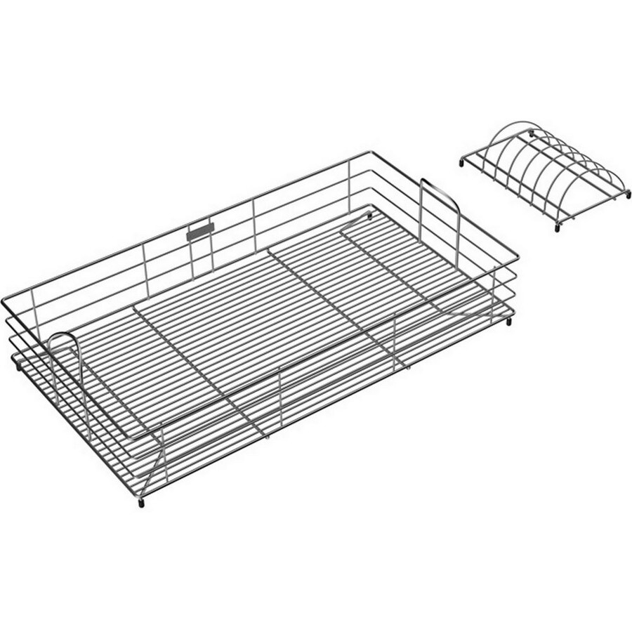 Elkay 15-in W x 27-in L x 7.78-in H Metal Dish Rack and Drip Tray