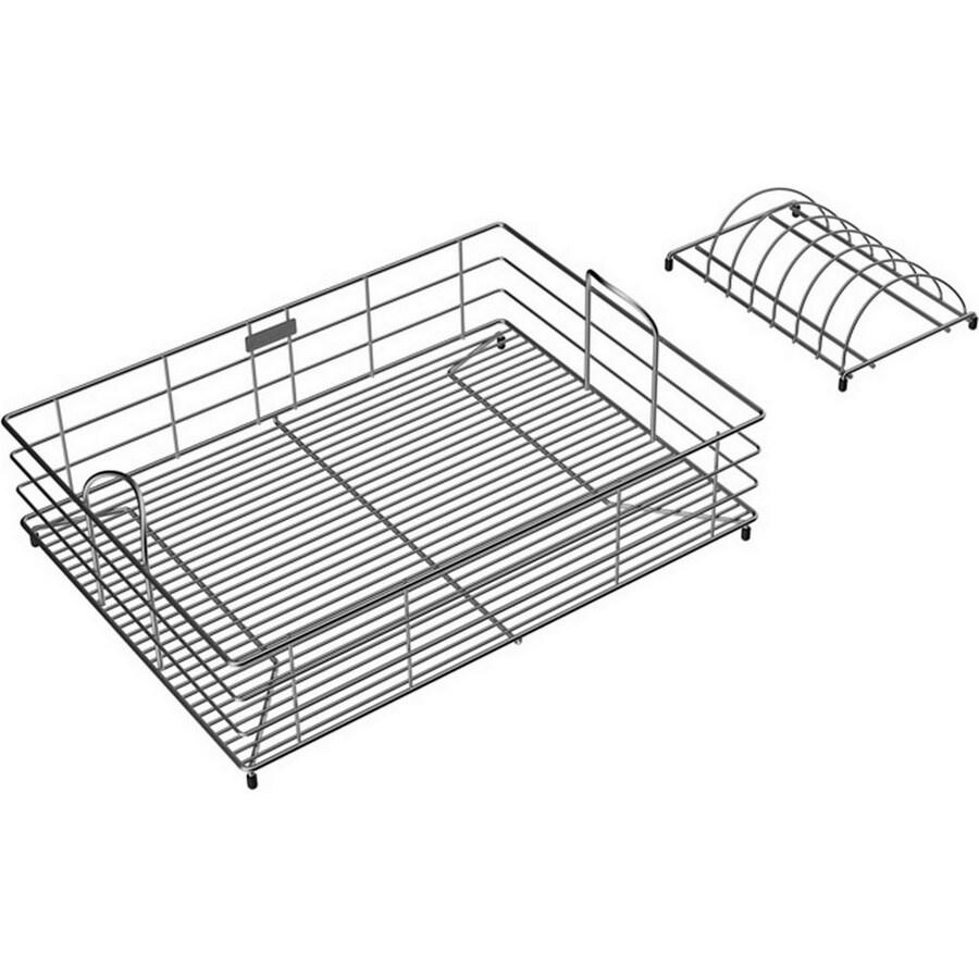 Elkay 14.75-in W x 20-in L x 7.78-in H Metal Dish Rack and Drip Tray