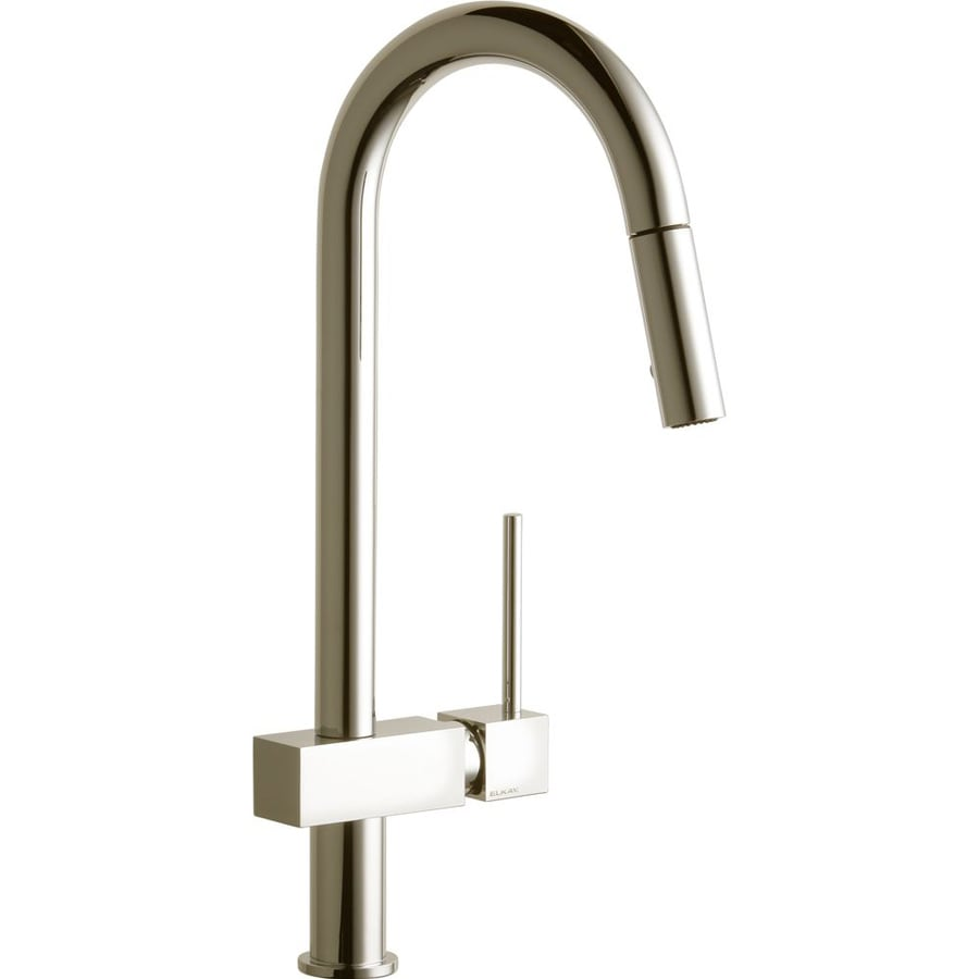 Shop Elkay Avado Brushed Nickel 1-Handle Pull-Down Kitchen Faucet at ...