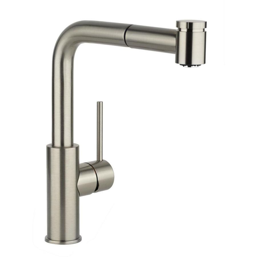 Elkay Harmony Brushed Nickel 1-Handle Pull-Out Kitchen Faucet