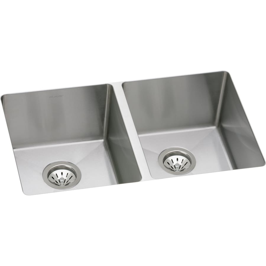 Elkay Avado 18.5-in x 30.75-in Stainless Steel Double-Basin Undermount Residential Kitchen Sink
