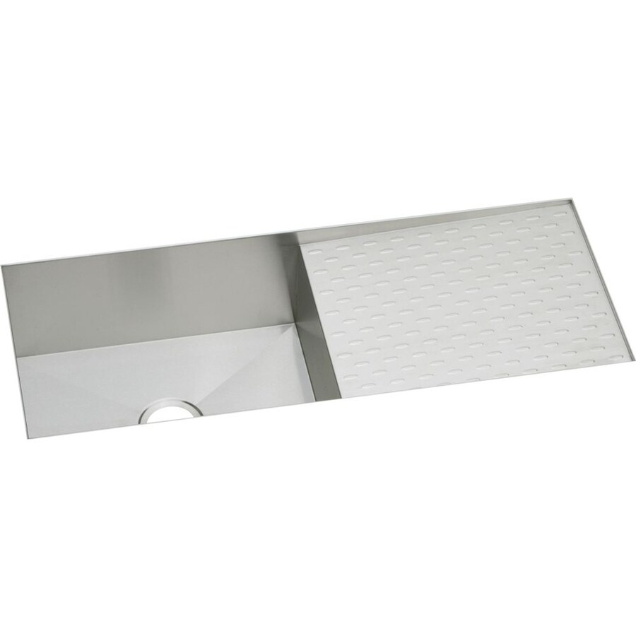 Elkay Avado 18.25-in x 43.5-in Polished Satin Single-Basin Stainless Steel Undermount Residential Kitchen Sink with Drainboard