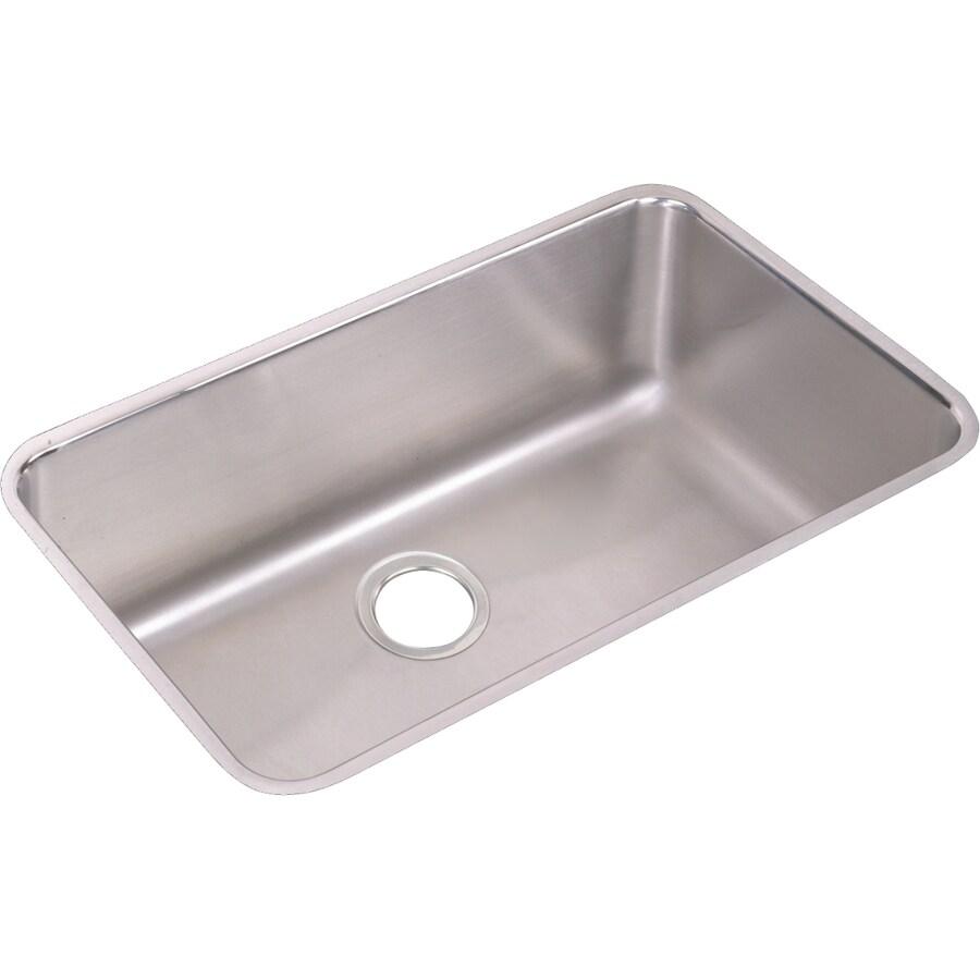 Elkay Gourmet 18.5-in x 30.5-in Stainless Steel Single-Basin Undermount Residential Kitchen Sink