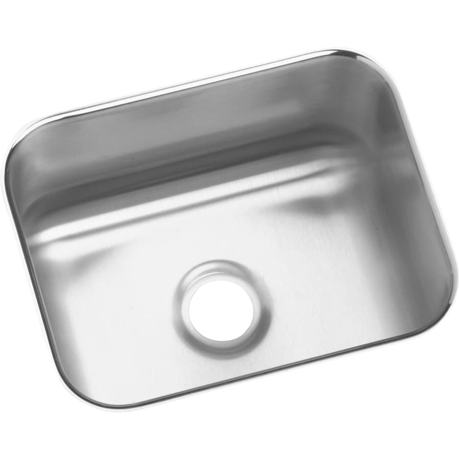 Elkay Gourmet 11.75-in x 14.5-in Stainless Steel Single-Basin Undermount Residential Kitchen Sink