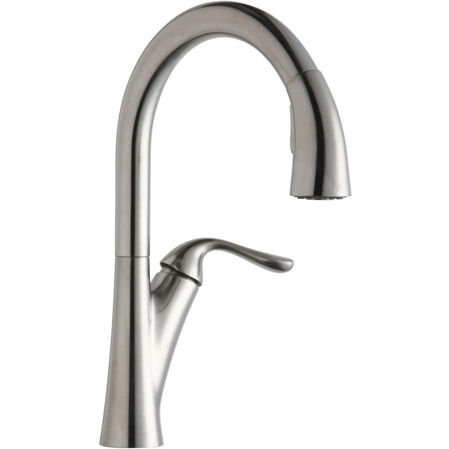 Elkay Harmony Lustrous Steel 1-Handle Pull-Down Kitchen Faucet
