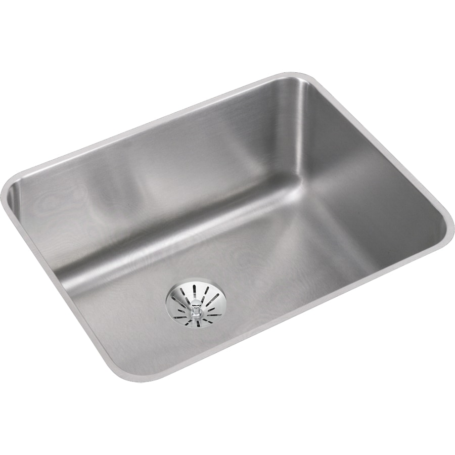 Elkay Gourmet 18.25-in x 23.5-in Stainless Steel Single-Basin Undermount Residential Kitchen Sink