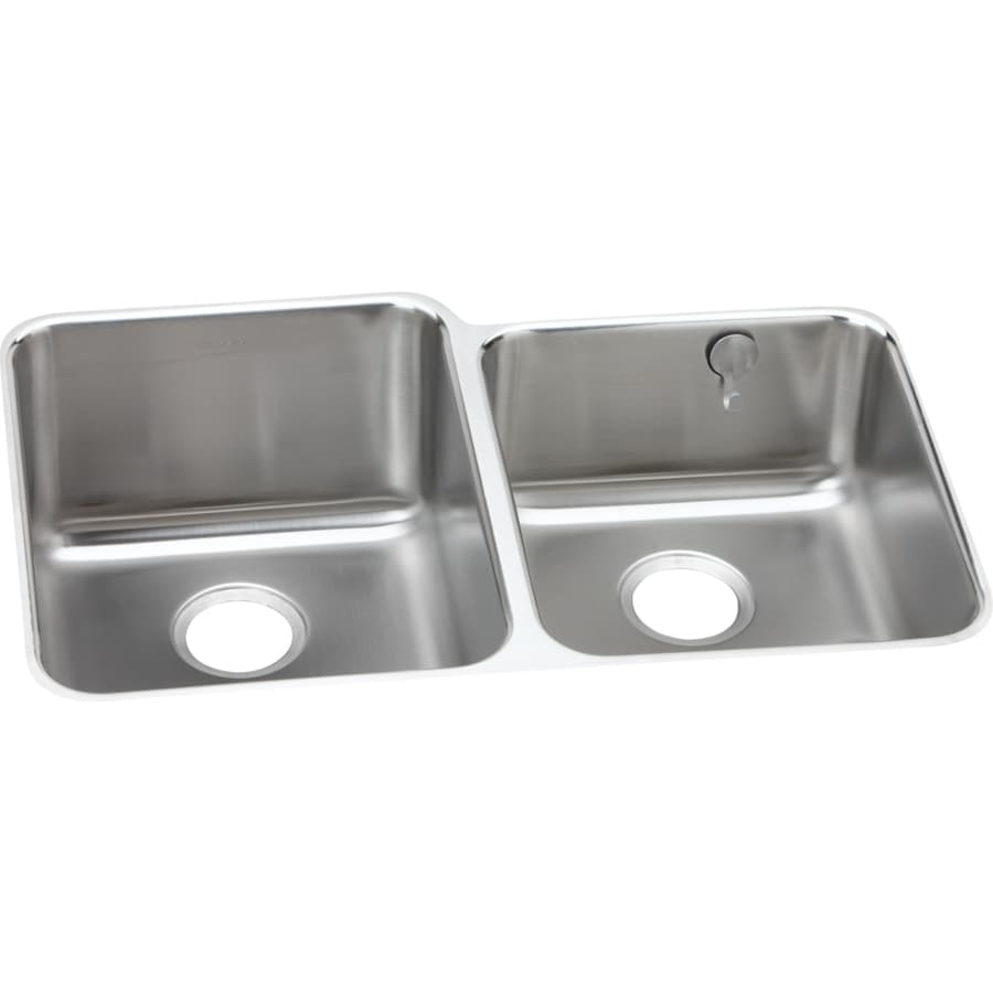 Elkay Gourmet 20.5-in x 31.25-in Stainless Steel Double-Basin Undermount Residential Kitchen Sink