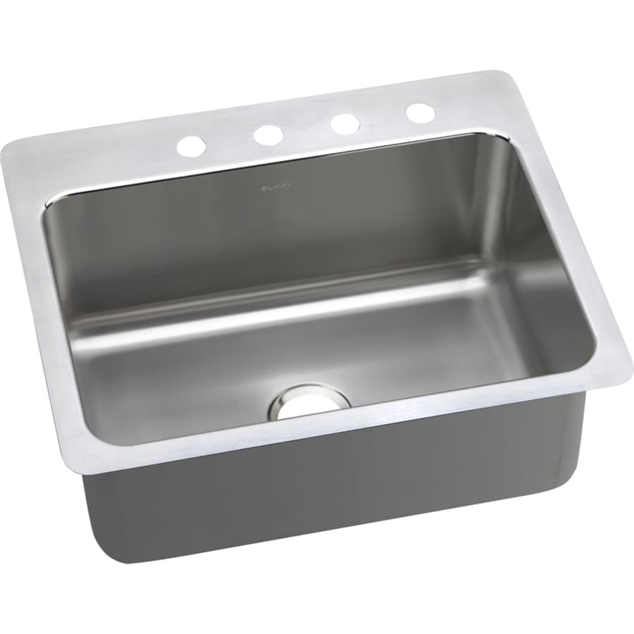 Shop Elkay Gourmet 22 In X 27 In Stainless Steel Single
