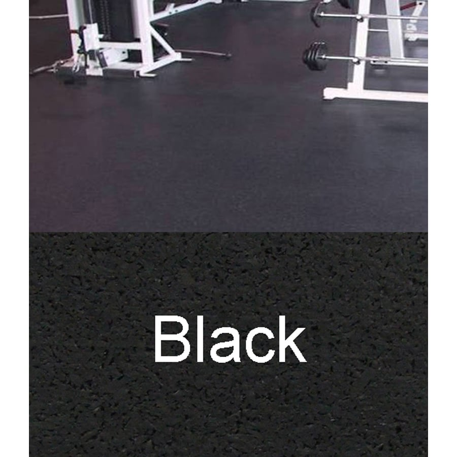 Amorim Rubber 4' x 10' Mat Flooring (Color: Black)