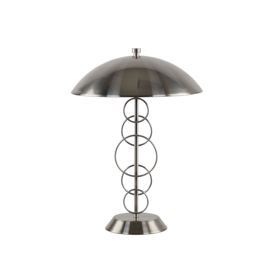 Portfolio 16-in Brushed Nickel Indoor Table Lamp with Metal Shade