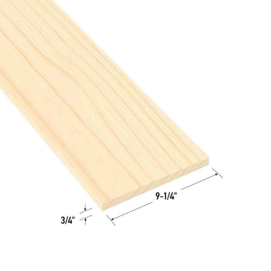 Top Choice Whitewood Board (Common: 1-in x 10-in x 4-ft; Actual: 0.75-in x 9.25-in x 3.87-ft)