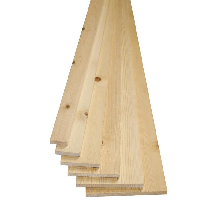 Whitewood Board (Common: 1-in x 6-in x 12-ft; Actual: 0.75-in x 5.5-in x 12-ft)