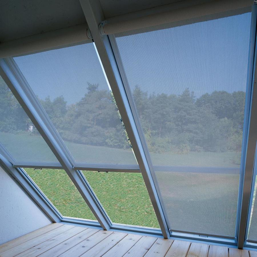 Heartland White Fabric Storage Shed Solar Shades