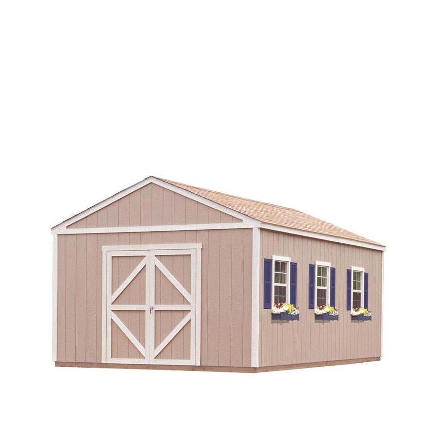 Shop heartland diy diplomat 12 x 20 wood storage building for Heartland sheds
