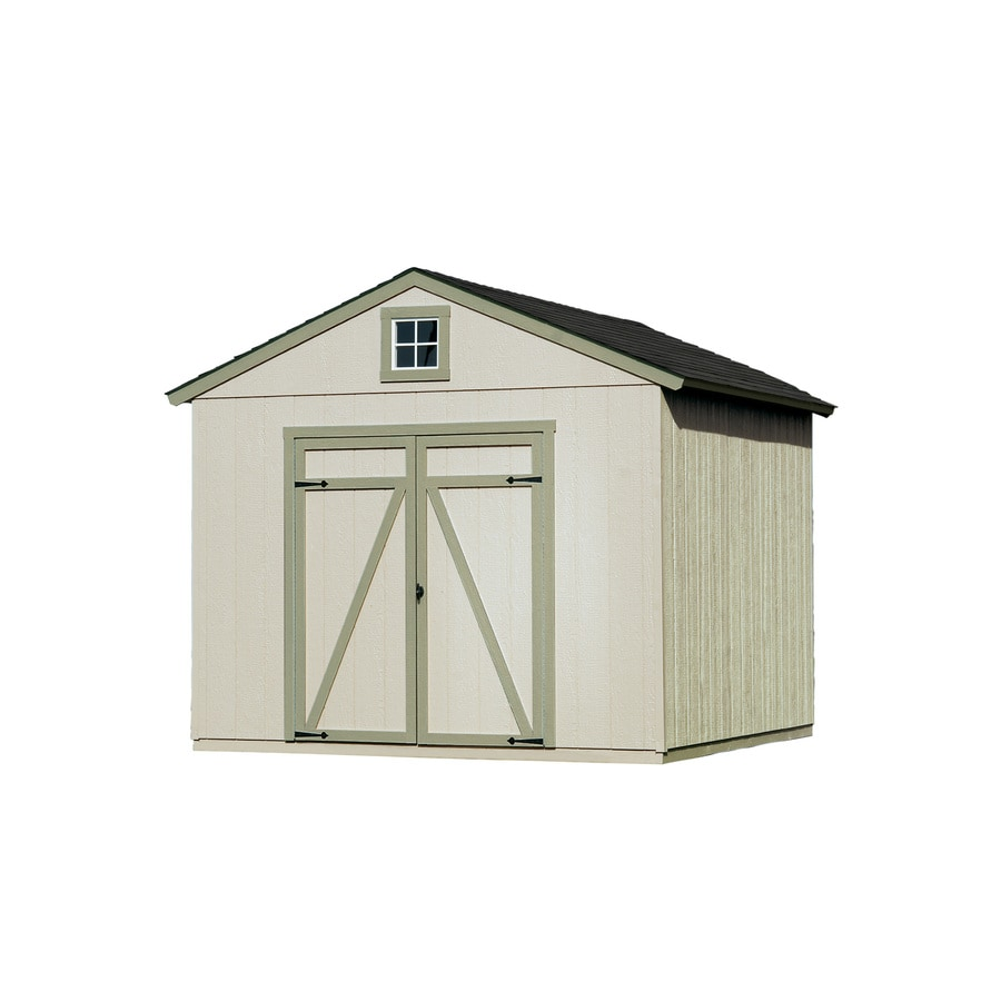 Heartland Statesman Gable Engineered Wood Storage Shed (Common: 10-ft ...