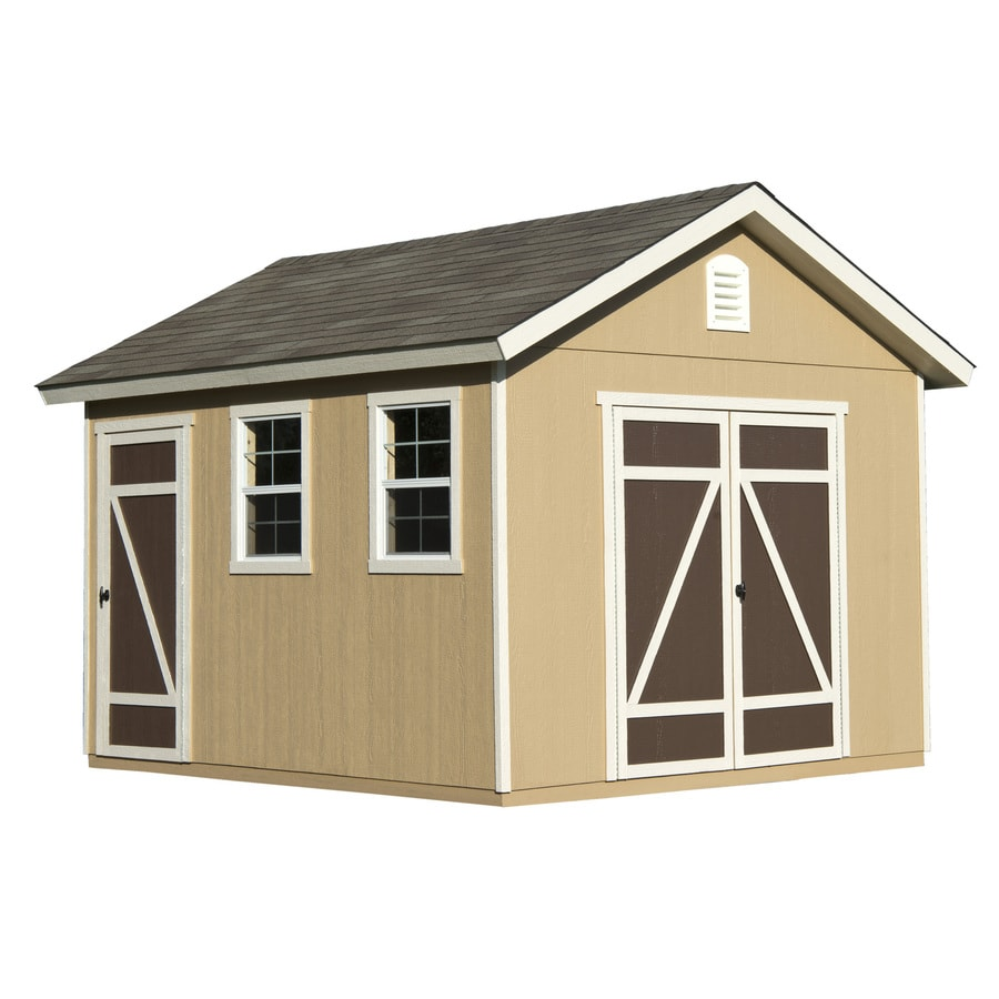 Hillsdale Gable Engineered Wood Storage Shed (Common 10-ft x 12-ft ...  sc 1 st  GoSmith & How much does a wood shed and installation cost in Newport News VA?