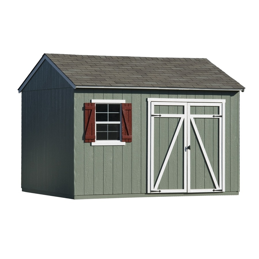 Gentry Saltbox Engineered Wood Storage Shed (Common: 12-ft x 10-ft; Interior Dimensions: 12-ft x 10-ft) Product Photo