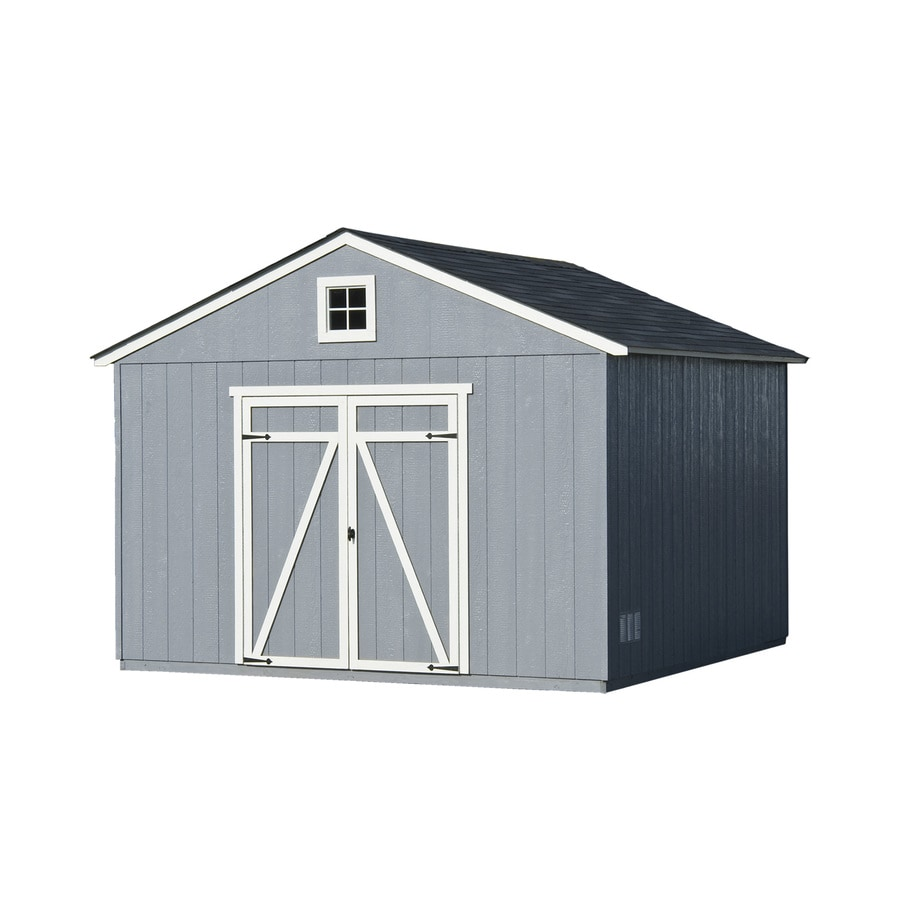 Statesman Gable Engineered Wood Storage Shed (Common: 12-ft x 12-ft; Interior Dimensions: 11.42-ft x 11.42-ft) Product Photo