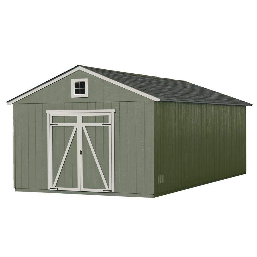 Statesman Gable Engineered Wood Storage Shed (Common: 12-ft x 24-ft; Interior Dimensions: 11.42-ft x 23.42-ft) Product Photo