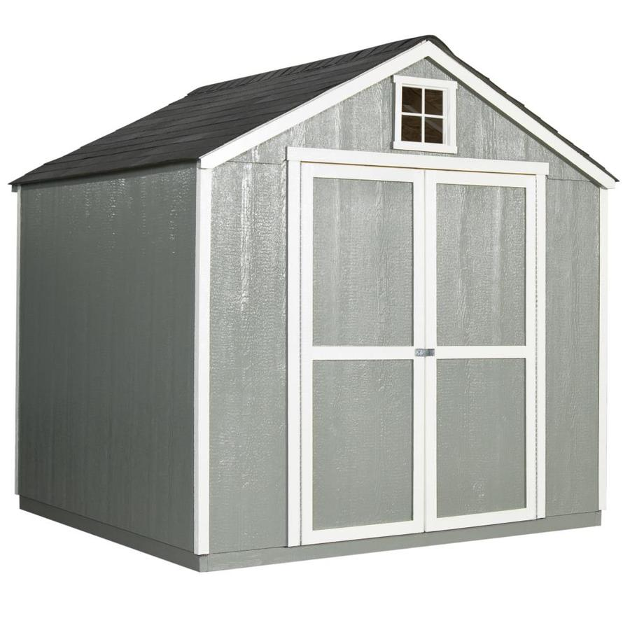 Heartland Value Gable Engineered Wood Storage Shed (Common: 8-ft x 10-ft; Interior Dimensions: 8-ft x 9.72-ft)