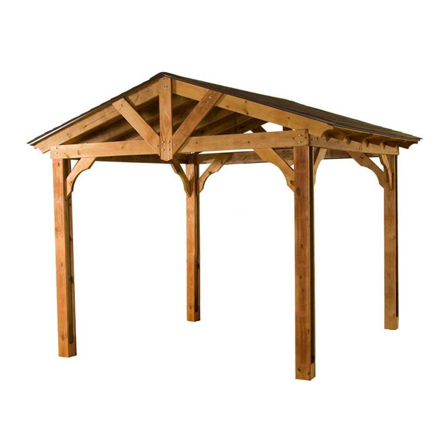 shop heartland microshade wood southern yellow pine freestanding pergola at. Black Bedroom Furniture Sets. Home Design Ideas