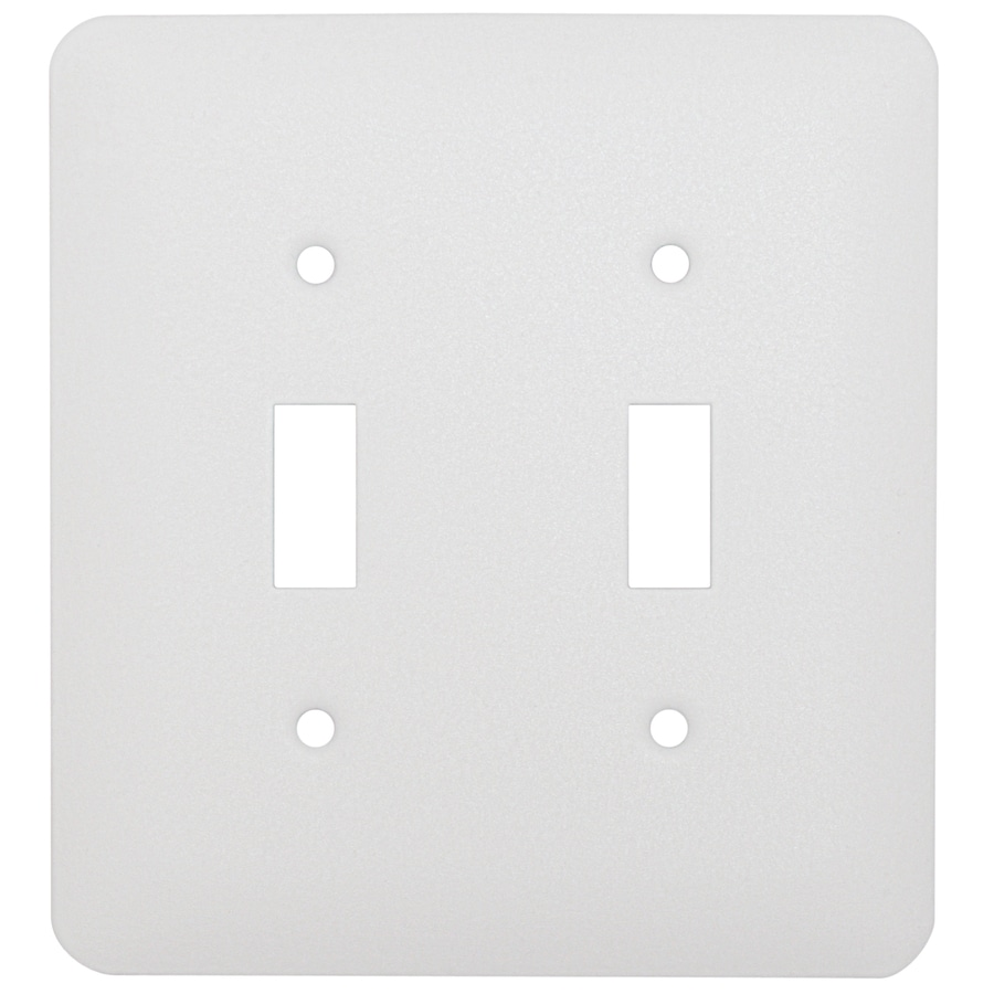 Mulberry 2-Gang White Toggle Wall Plate
