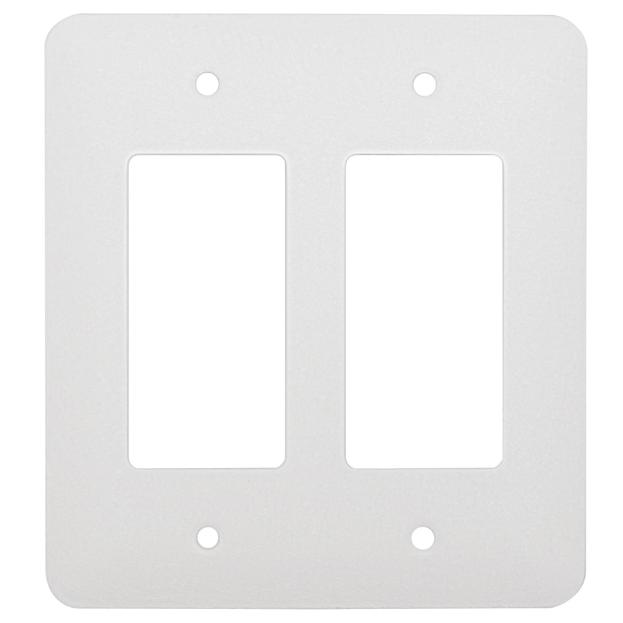 Mulberry 2-Gang White Wall Plate